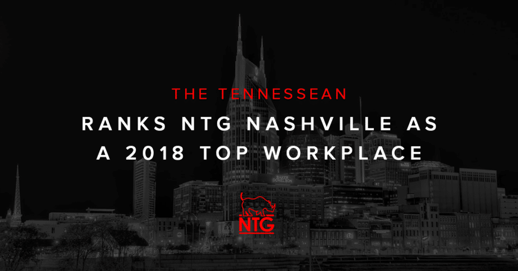 NTG 2018 Top Nashville Workplace Blog Cover Photo