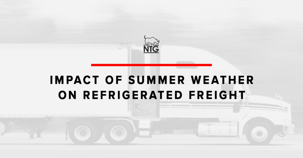 Blog header image for refrigerated freight