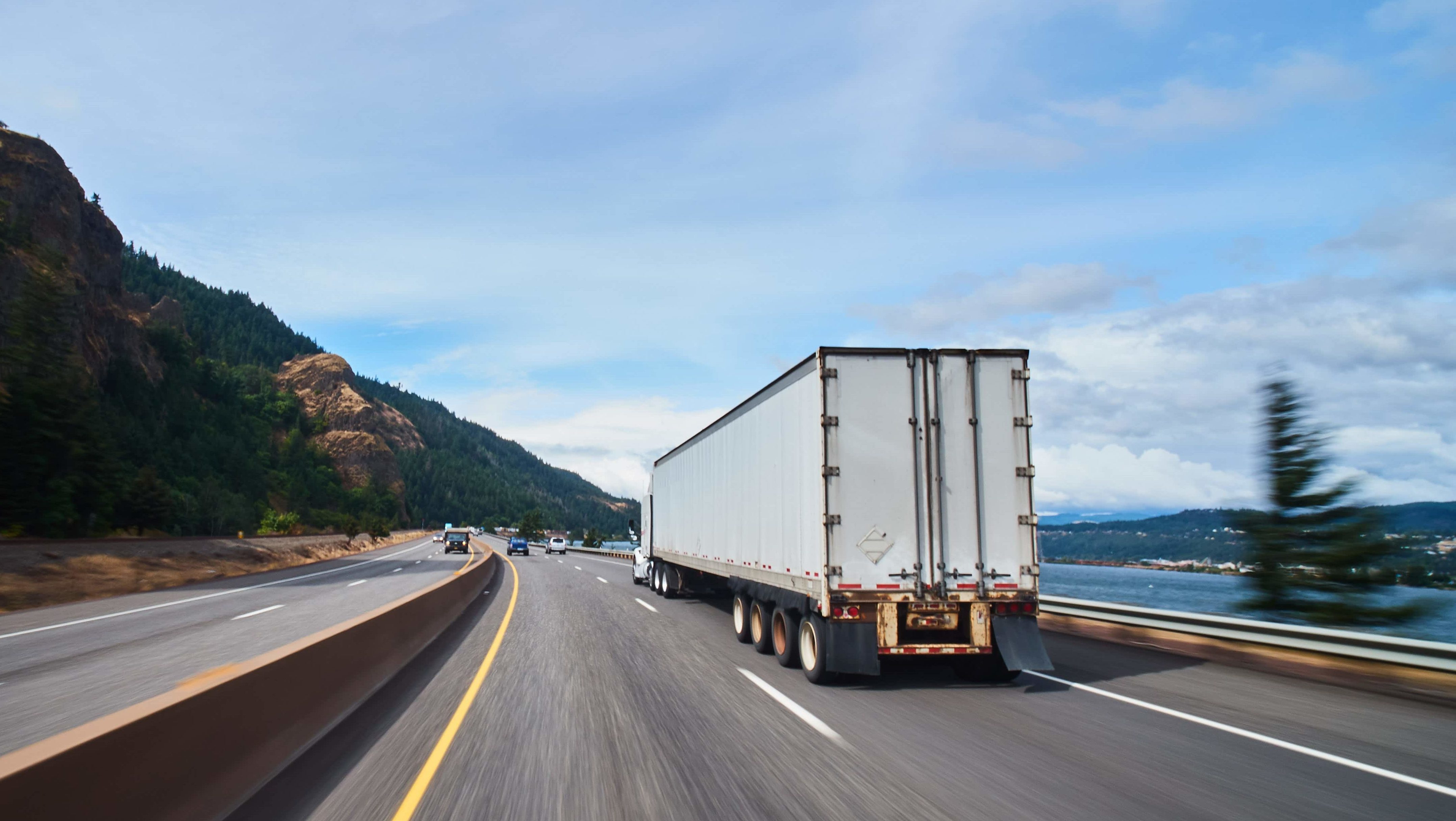 Freight truck on highway